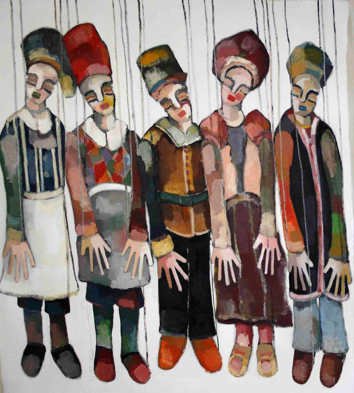 marionnettes, 120x180 cm, acrylique sur toile/acrylic on canvas