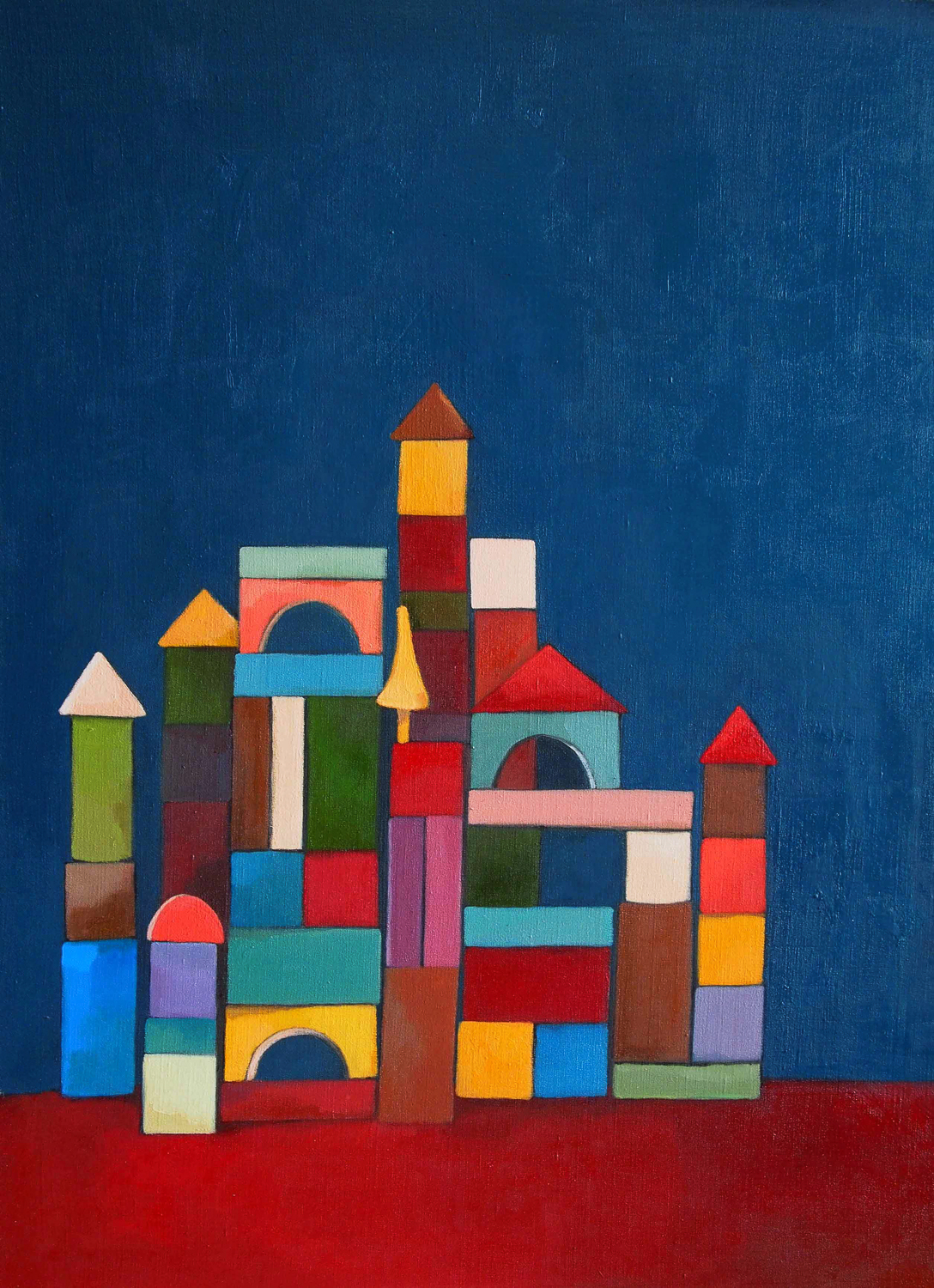 building bloks #4, 60x80 cm, huile sur toile/oil on canvas