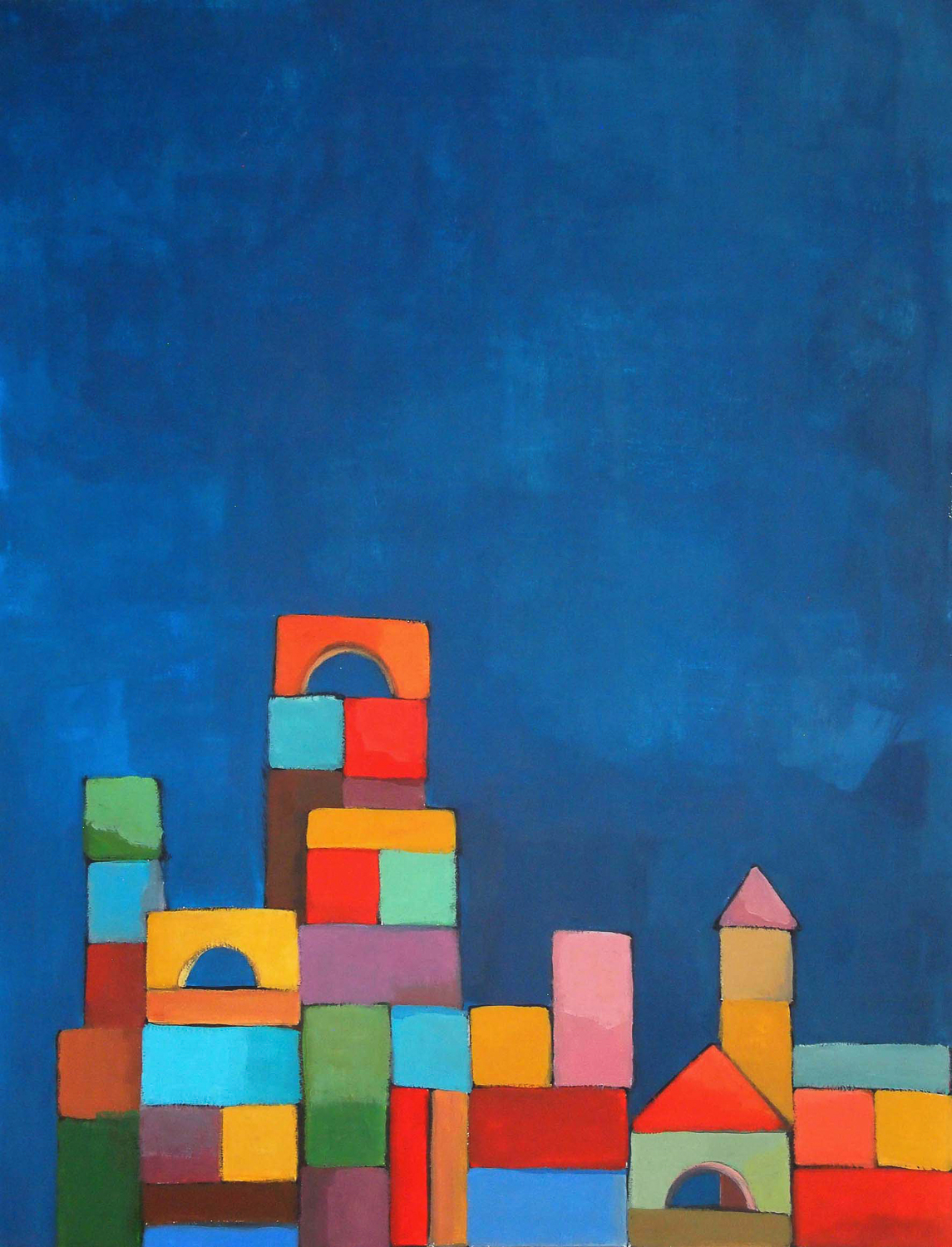 building bloks #3, 50x65 cm, aquarelle sur papier/water-color on paper